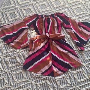 Striped off shoulder Vici dolls dress